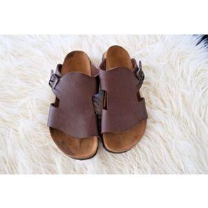 Birkenstock Birkis Brown Sandals Single Buckle 10